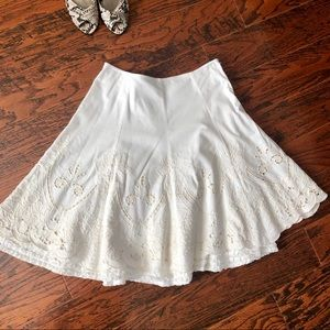 CAbi Embroidered & Tiered A-line Skirt - Size 4